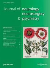 Journal of Neurology, Neurosurgery & Psychiatry: 80 (1)