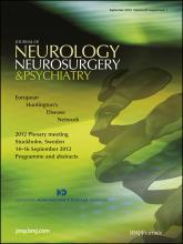Journal of Neurology, Neurosurgery & Psychiatry: 83 (Suppl 1)