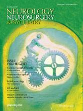 Journal of Neurology, Neurosurgery & Psychiatry: 84 (1)