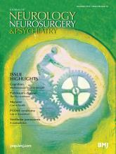 Journal of Neurology, Neurosurgery & Psychiatry: 84 (12)