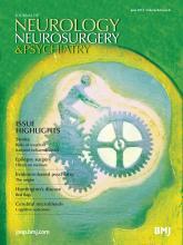 Journal of Neurology, Neurosurgery & Psychiatry: 84 (6)