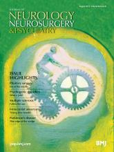 Journal of Neurology, Neurosurgery & Psychiatry: 84 (8)