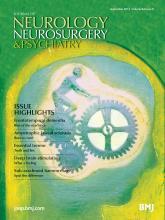 Journal of Neurology, Neurosurgery & Psychiatry: 84 (9)