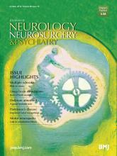 Journal of Neurology, Neurosurgery & Psychiatry: 85 (10)