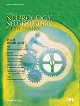 Journal of Neurology, Neurosurgery & Psychiatry: 85 (5)