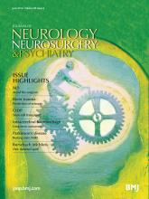 Journal of Neurology, Neurosurgery & Psychiatry: 85 (6)