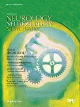 Journal of Neurology, Neurosurgery & Psychiatry: 85 (7)