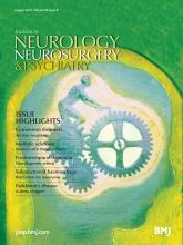 Journal of Neurology, Neurosurgery & Psychiatry: 85 (8)