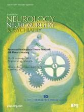 Journal of Neurology, Neurosurgery & Psychiatry: 85 (Suppl 1)