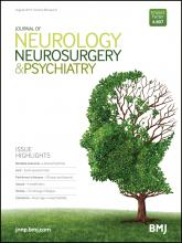 Journal of Neurology, Neurosurgery & Psychiatry: 86 (8)