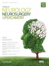 Journal of Neurology, Neurosurgery & Psychiatry: 88 (11)
