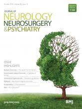 Journal of Neurology, Neurosurgery & Psychiatry: 89 (10)