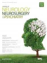 Journal of Neurology, Neurosurgery & Psychiatry: 89 (12)