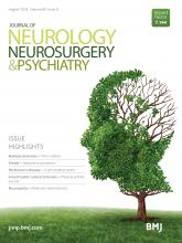 Journal of Neurology, Neurosurgery & Psychiatry: 89 (8)