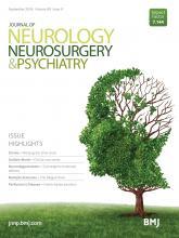 Journal of Neurology, Neurosurgery & Psychiatry: 89 (9)