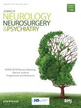 Journal of Neurology, Neurosurgery & Psychiatry: 89 (Suppl 1)