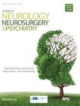 Journal of Neurology, Neurosurgery & Psychiatry: 90 (Suppl 2)