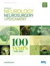 Journal of Neurology, Neurosurgery & Psychiatry: 91 (1)