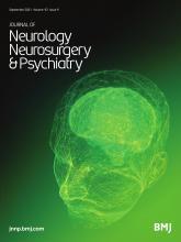 Journal of Neurology, Neurosurgery & Psychiatry: 92 (9)